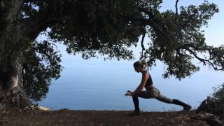 Simple Sun Salutation at Tanbark Trail, Big Sur, CA with Jovinna and Nan