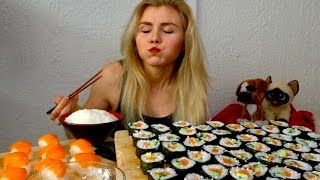 Salmon Maki and SUSHI | MUKBANG #51
