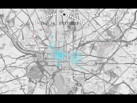 Public Bike Usage Shows the Pulse of Washington, D.C.