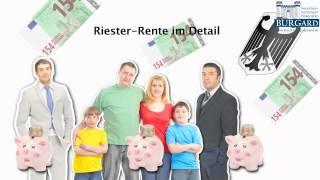 Wie funktioniert die Riester-Rente? - bereitgestellt von Claude Burgard Versicherungsmakler