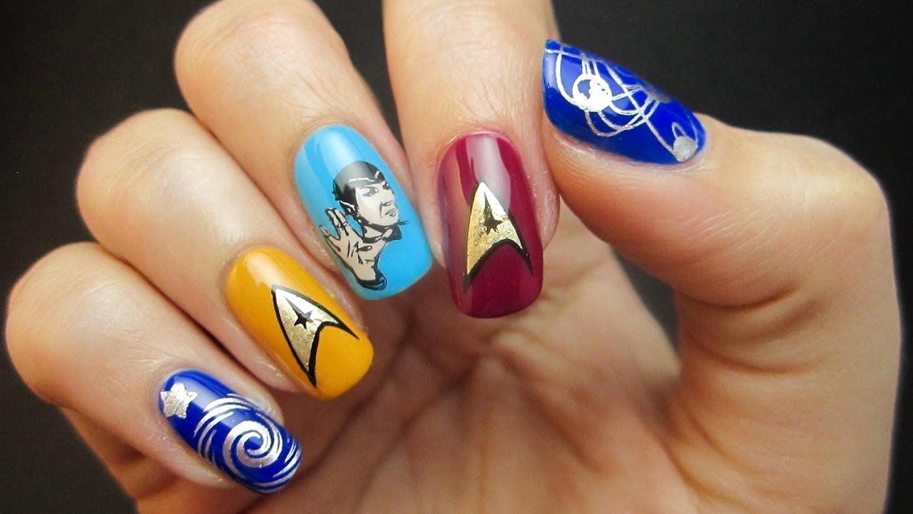 Spock Star Trek Reverse Stamping Nail Art Tutorial Youtube