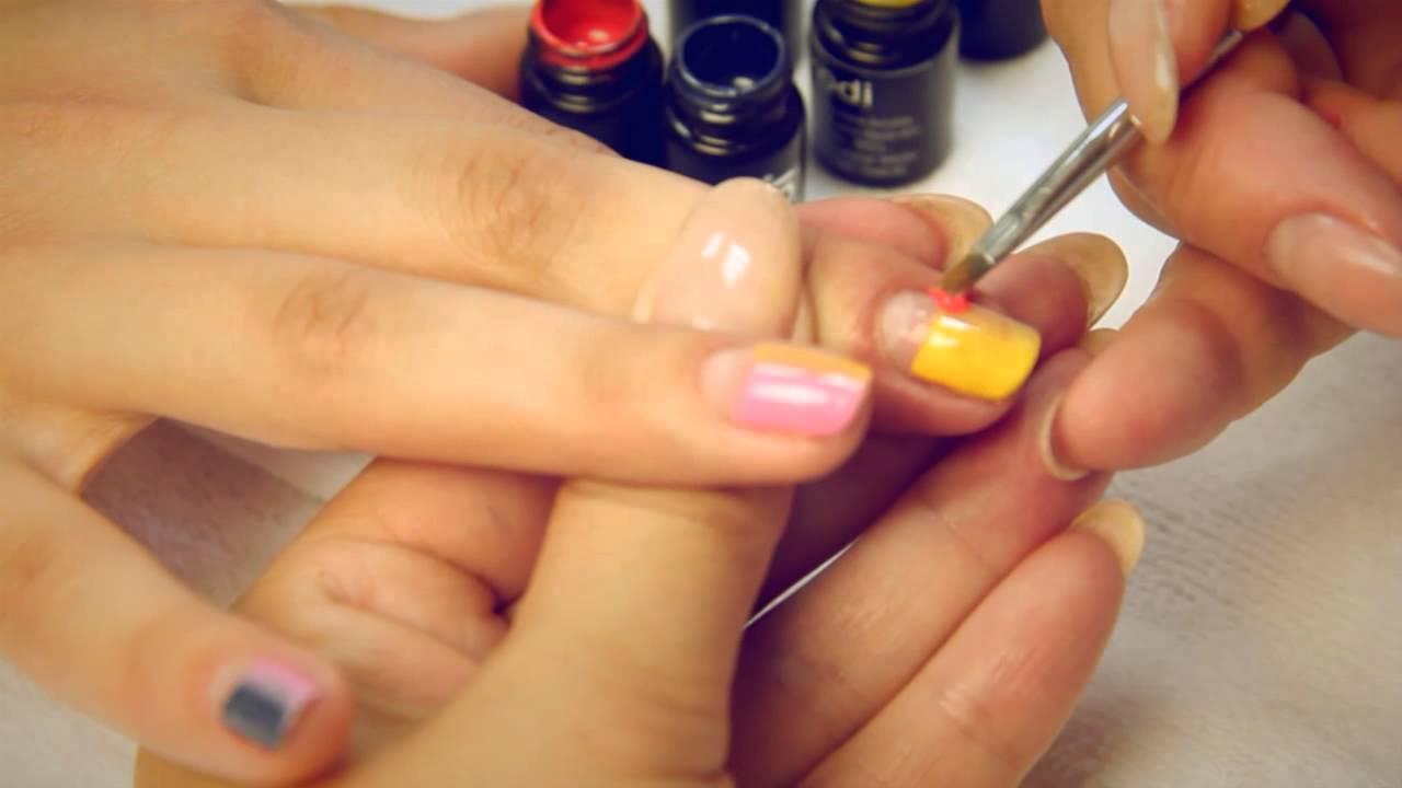 Дизайн ногтей Маникюр с гель краской