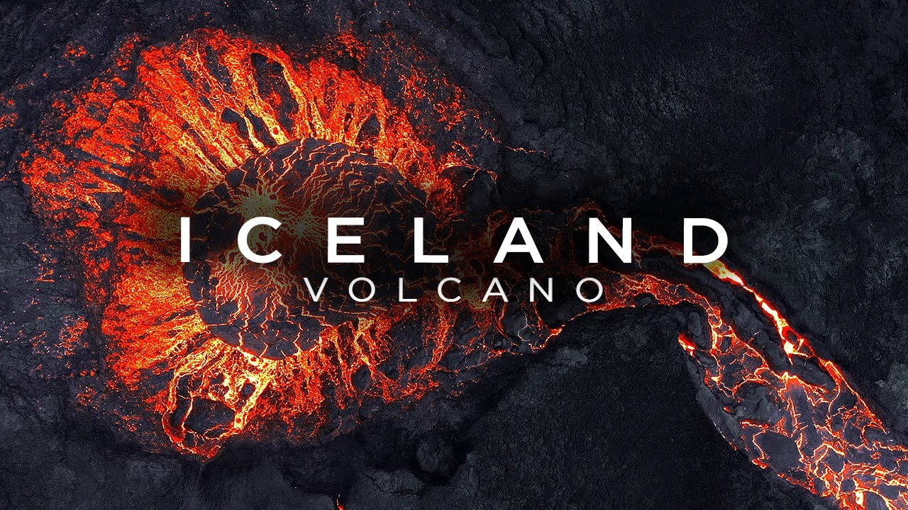 Stunning Drone Footage of Iceland Volcano
