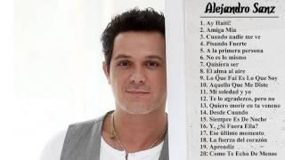 alejandro sanz sus mejores exitos baladas románticas   exitos mix