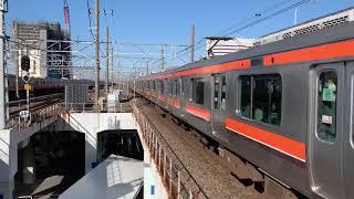 JR武蔵野線E231-0番台ケヨMU19編成南船橋駅1番線入線。