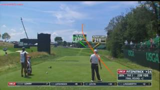 golf protracer compilation 2016 us open rd 4