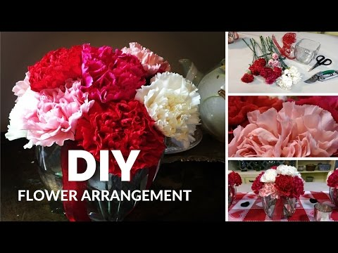 DIY how to make flower arrangements with carnations