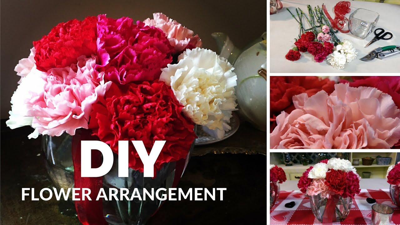 How To Make Flower Arrangements diy how to make flower arrangements with carnations - youtube