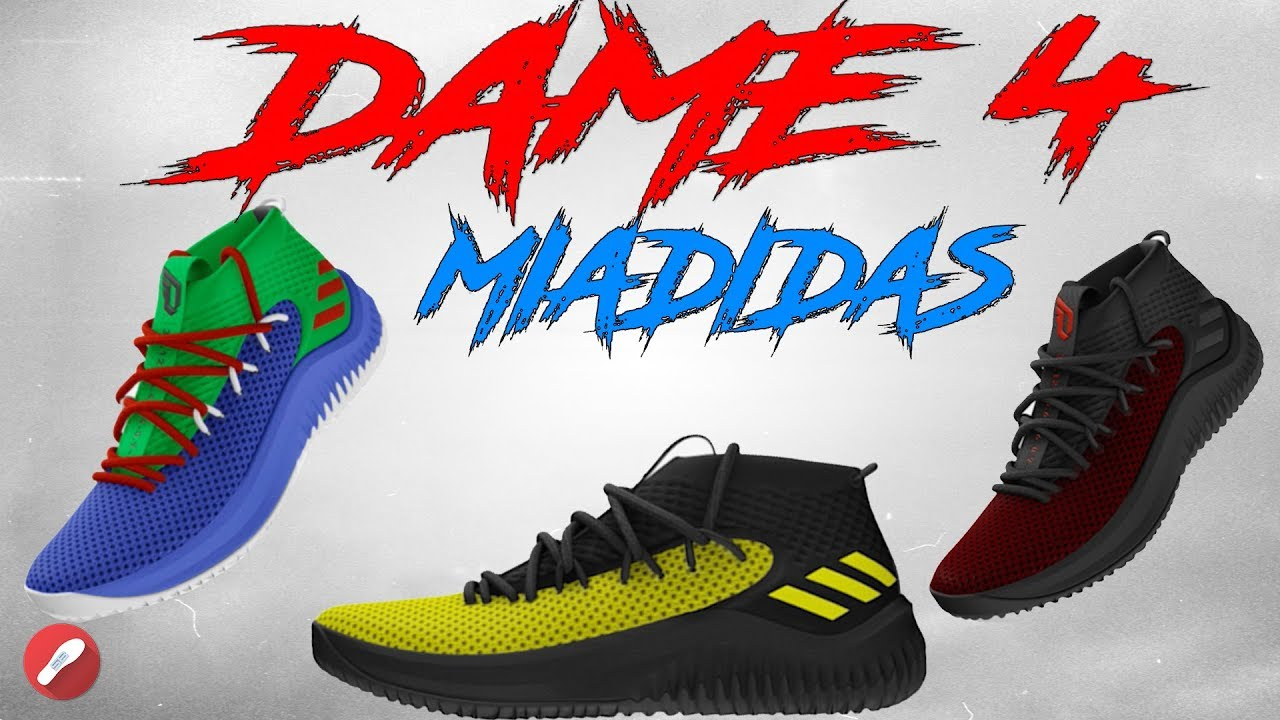 Customizing the Adidas Dame 4 on MIADIDAS! - YouTube 241eb44d9