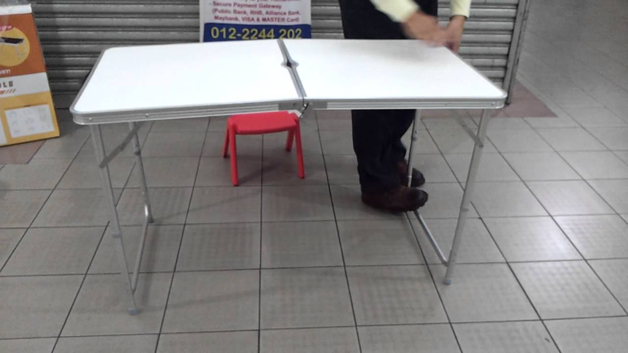 Portable Aluminium Table (Fold Able U0026 Adjustable)   YouTube