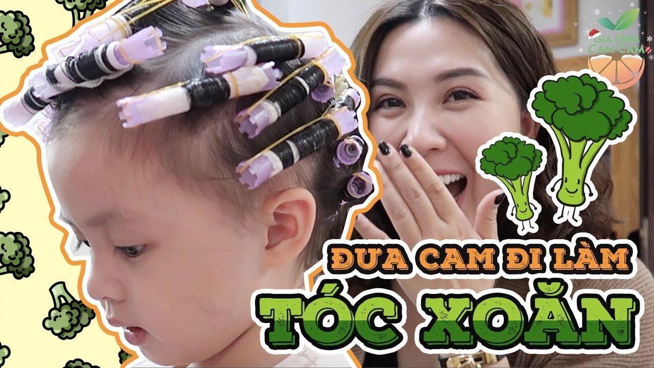 Một ngày vắng bố ! Mẹ đưa CamCam đi làm tóc xoăn !   Gia Đình Cam Cam Vlog 156