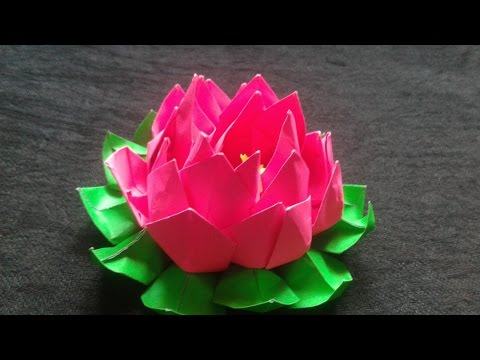 How to make an origami lotus flower| DIY  projects|Do it yourself|DIY ideas|DIY craft instructions