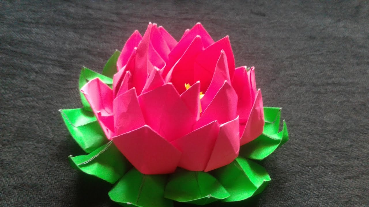 How to make origami lotus flowers origami tutorial lets make it how to make an origami lotus flower diy projects do it yourself mightylinksfo