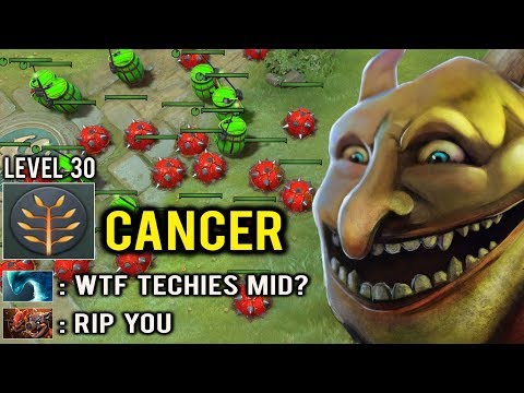 CANCER TECHIES MID IS BACK Fast Level 30 Full Bomb Most Annoying Hero 7.23 Dota 2