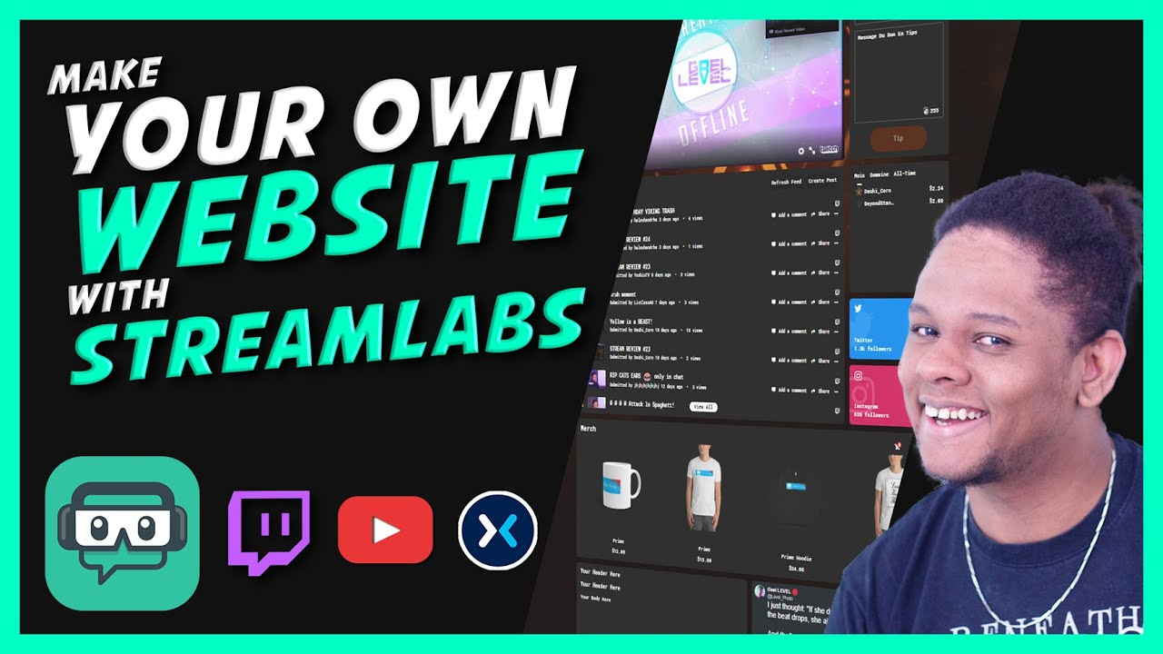 StreamLabs Creator Sites - How to Make Your Own Website