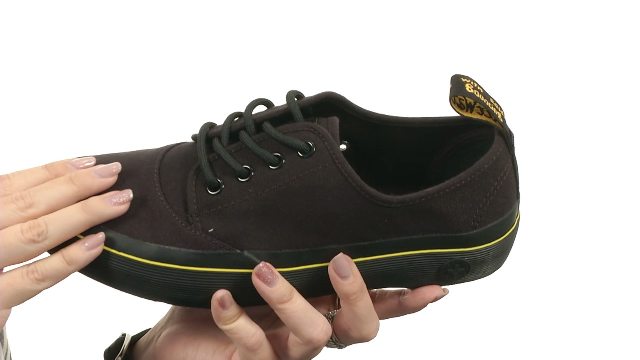 Sneakers Lace up Black Mens Dr.Martens Jacy Black Canvas