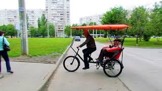 Велорикша с расположением пассажиров и грузов сзади, Трехколесный велосипед, Pedicab
