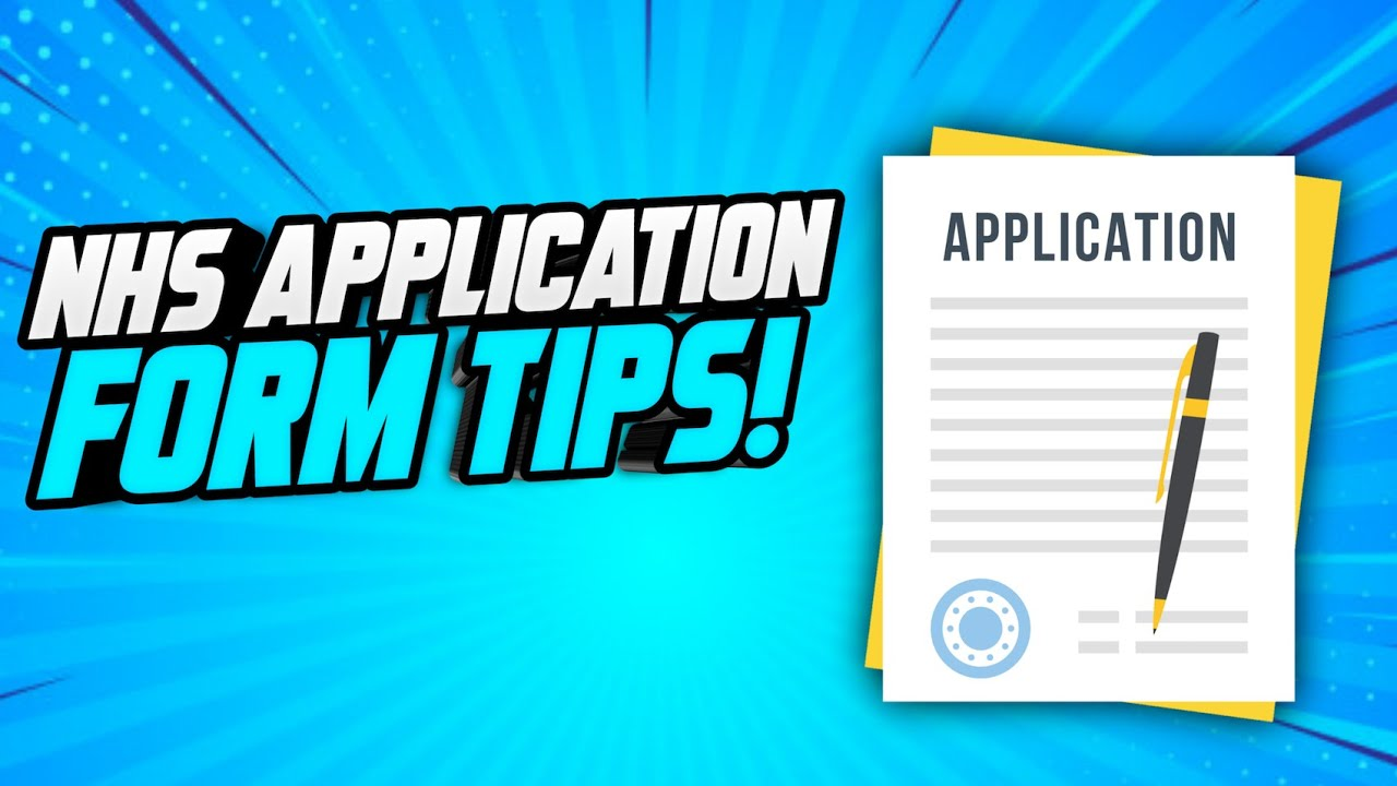 NHS APPLICATION FORM TIPS How to write a WINNING NHS Job Application  Form SAMPLE INCLUDED