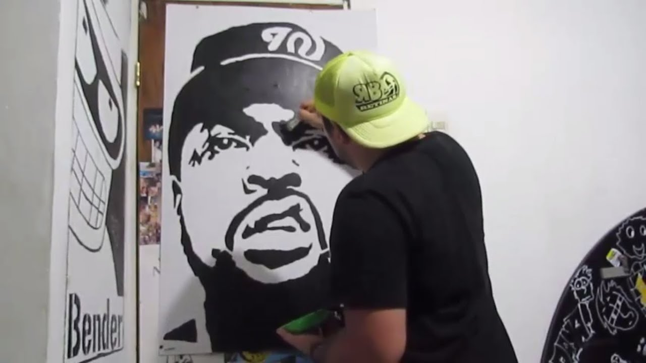 Stencil Ice Cube - YouTube