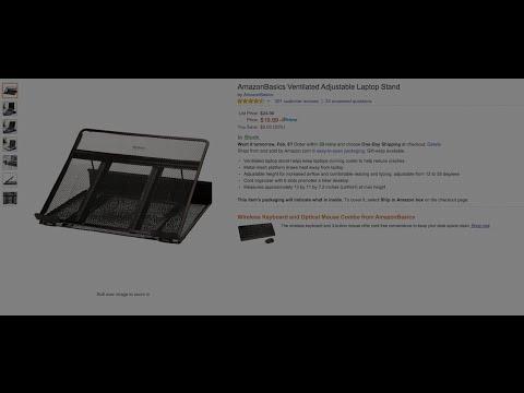 Amazon  Basics Venilated Adjustable Laptop Stand Review