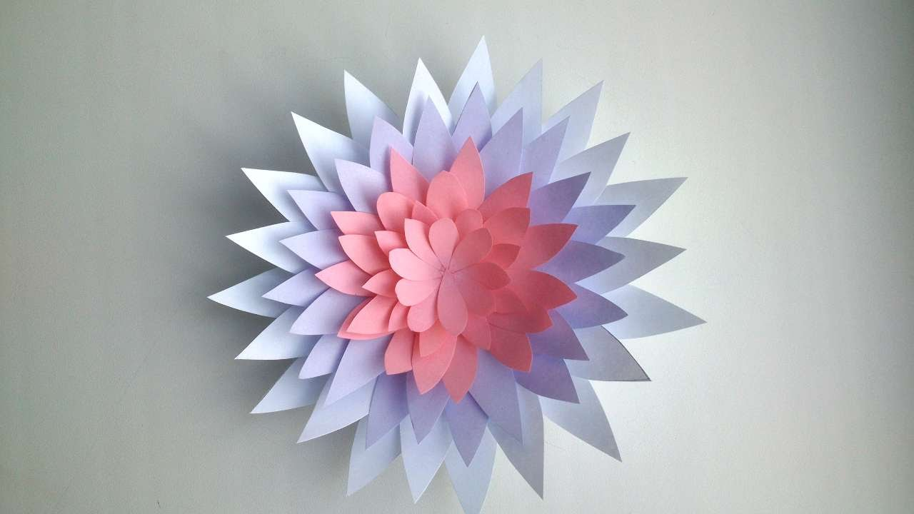 How To Make A Flower Out Of Paper - DIY Crafts Tutorial ...