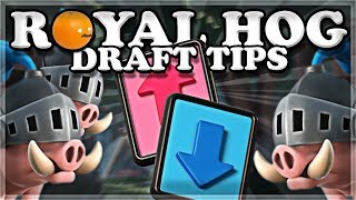 Snowball vs Royal Hog Drafting Tips! | Clash Royale 🍊