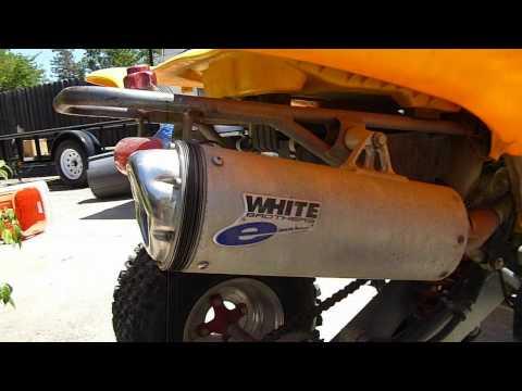 White Brothers E Series Exhaust Yamaha Warrior