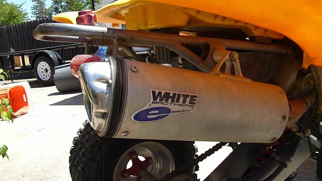 Honda 400 Ex >> 2003 Honda 400ex walk around- tricked out- white brothers exhaust - YouTube