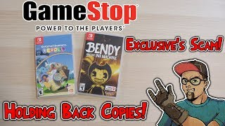 GameStop Exclusive Scam! Holding Back Games! Is It Happening Again?