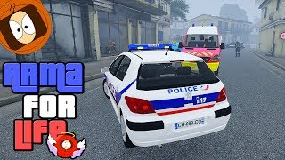 POLICE NATIONALE & POMPIER : ACCIDENT DE LA ROUTE ! | ARMA FOR LIFE