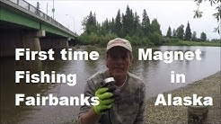 First time magnet fishing in Fairbanks Alaska