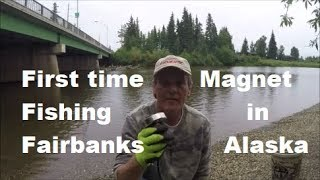 First time magnet fishing in Fairbanks Alaska