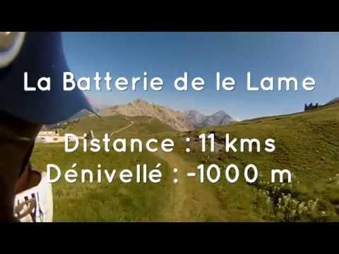 Espace VTT Grand Briançonnais, circuit Enduro n°56 Noir : La Batterie de la Lame