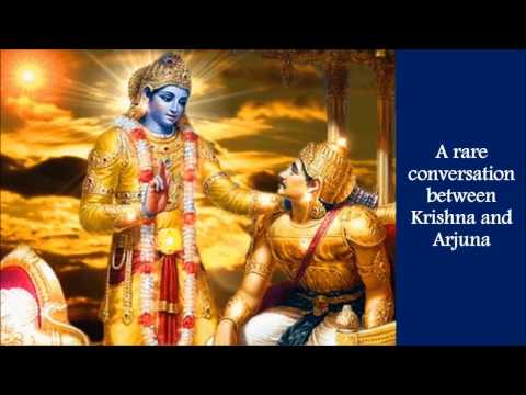 A rare conversation between Krishna and Arjuna