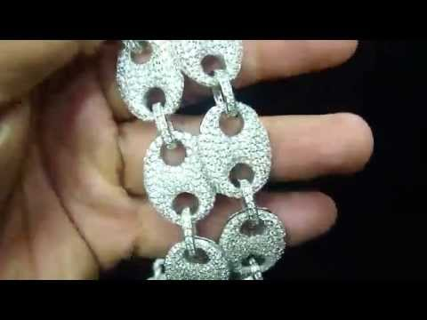 Gucci Link Style GG Interlocking Iced Out Chain Necklace (M4H06560)