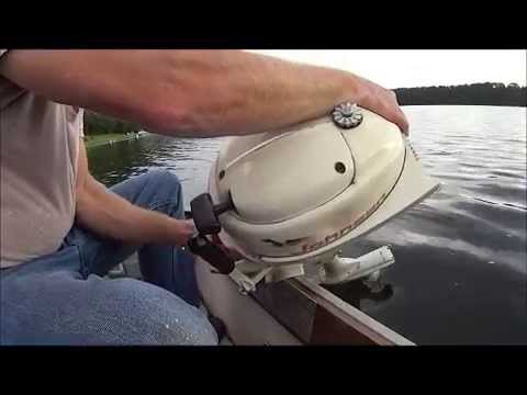 How To Start An Old Vintage Johnson 3hp Outboard Boat Motor 3 Horse Power Trolling Fishing Engine