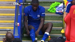 Antonio Rudiger vs Arsenal (Wembley) 06/08/2017 HD 1080i