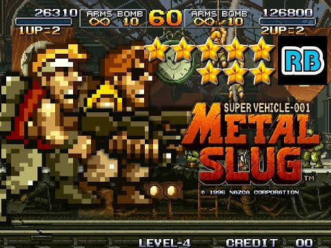 1996 [60fps] Metal Slug 2Players Nomiss ALL