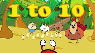 Counting 1-10 Song | Number Songs for Children | The Singing Walrus