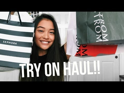 TRY ON HAUL!! | Brandy Melville, American Eagle, Forever 21, Sephora + More!