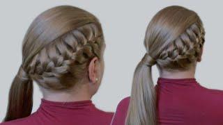 Как Делать Прически Видео Урок: Красивая Коса и Хвост из Длинных Волос| Jessica Alba's Hairstyle(Чтобы делать красивые прически самой себе, совсем необязательно быть парикмахером. Нужно всего лишь уметь..., 2013-07-26T19:15:14.000Z)