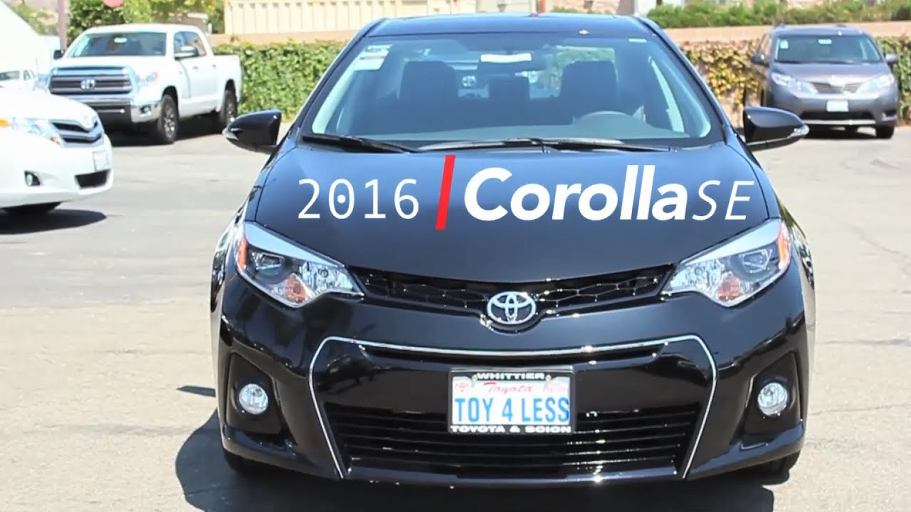 2016 toyota corolla se now at toyota of whittier black special edition best l a deals 888 718 3693 youtube