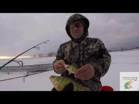 Ice Fishing Small Boat Harbor Buffalo NY
