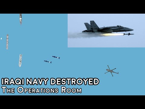 Desert Storm - The Annihilation of the Iraqi Navy at the Battle of Bubiyan - Time-Lapse
