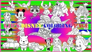 Kid's Disney Coloring Page Trailer