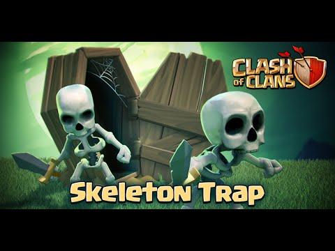 Clash of Clans - Skeleton Trap! (Gameplay)
