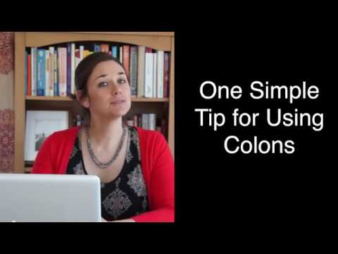 One Simple Tip For Using Colons