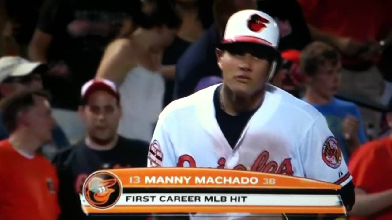 8d2972659 Manny Machado first Major League hit - YouTube