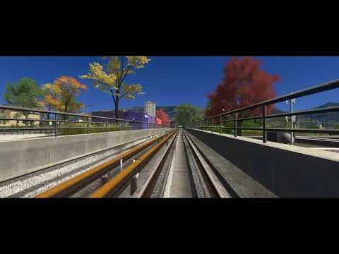 Cities Skylines First Person Cam - Metro Ride |