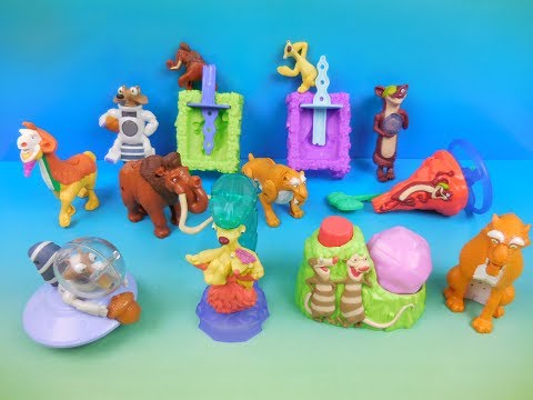 2016 ICE AGE 5 COLLISION COURSE SET OF 12 McDONALDS HAPPY MEAL KIDS TOYS VIDEO REVIEW